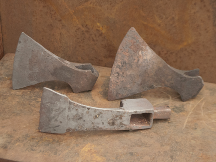 viking adze. here are those same tools with the bits welded. blades of axes viking adze