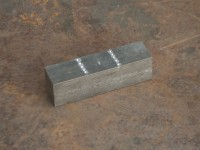 "A piece of 1.25"" square bar which is 4.5"" long is marked into equal thirds."