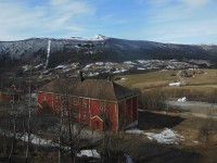 Leaving Hjerleid Craft School in Dovre from the train station in nearby Dombaas.  View from the station.