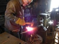 Øystein takes another welding heat.