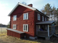 Mattias' hand hewn farmhouse.