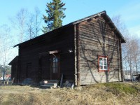 The cabin I stayed in - also hand hewn!