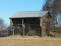 On the way we passed an old barn - the lower section was built in the 16th century.