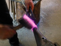 Tightening the socket weld-zone.