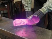 Underside of the welded blade.