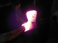Welding the socket over the horn.