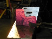 Appearance of the axe body after the first socket welding pass.