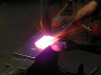Welding continues.