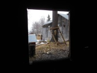 View from inside the old smithy.